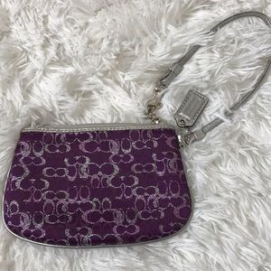 Coach Purple Pink and Silver Wristlet